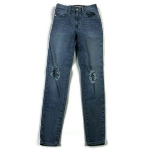 Levis Mile High Super Skinny Destroyed Jeans